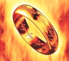 Lord of the Rings - One Ring to Bind Them Web Ring Logo